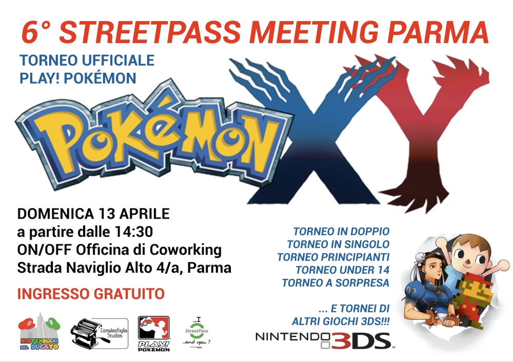 6 STREETPASS MEETING POSTER stampa