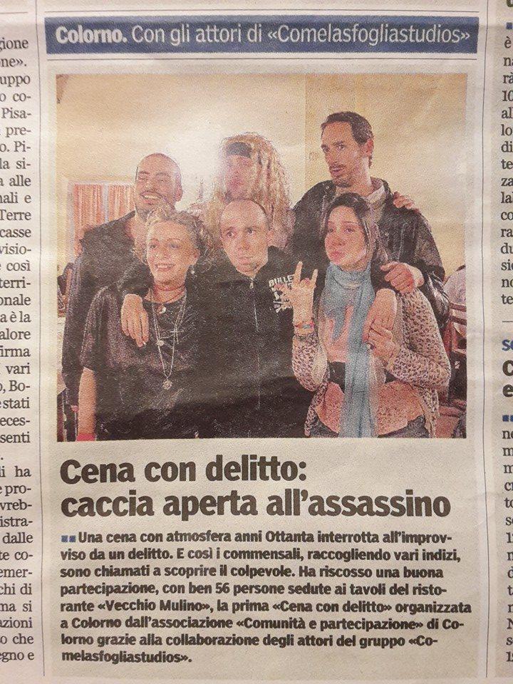 articolo sulla Gazzetta di Parma dell'evento organizzato da Comelasfoglia